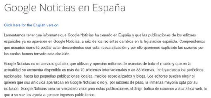 Cierre Google