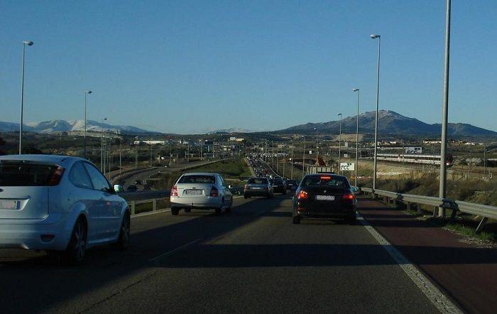 Carretera_Madrid_Colmenar_Viejo_dia_de_diario