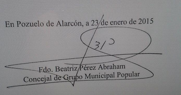 Firma Beatriz Pérez Abraham