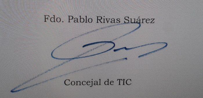 Firma de Pablo Rivas