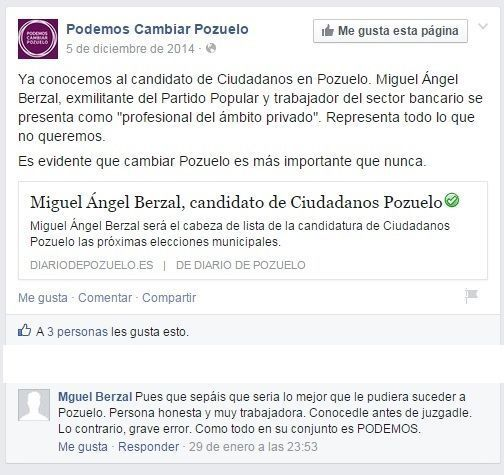Mguel Berzal - Podemos