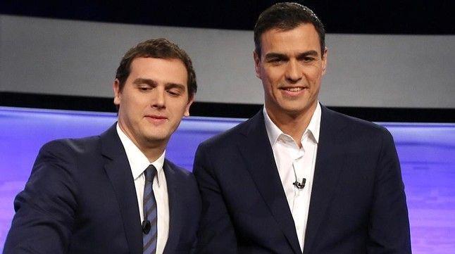 Madrid 30 11 2015 Debate de Albert Rivera Pedro Sanchez y Pablo Iglesias con la ausencia de Rajoy Imagen Juan Manuel Prats