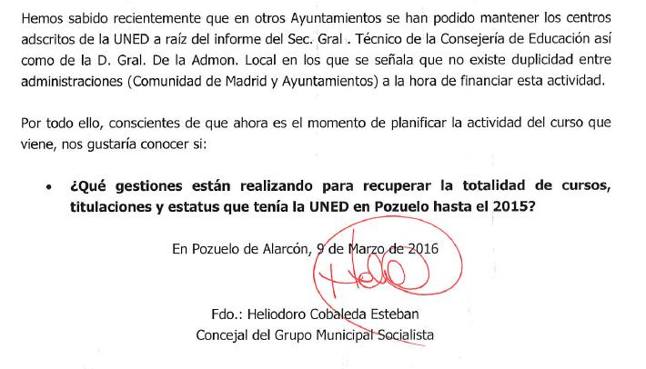 Pregunta PSOE
